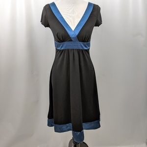 Black Dress with Blue Sash